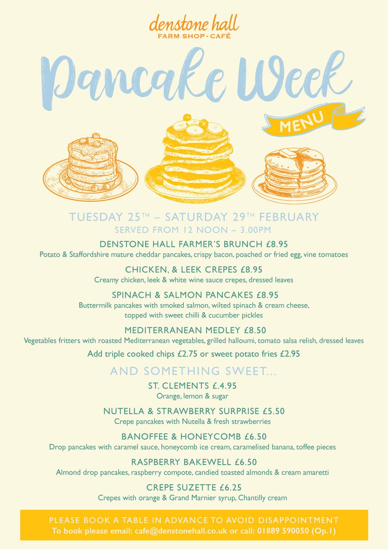 Pancake Week Menu