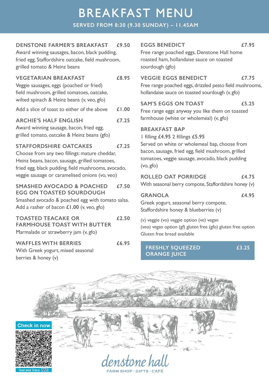 Denstone Hall Farm Shop & Café - Breakfast
