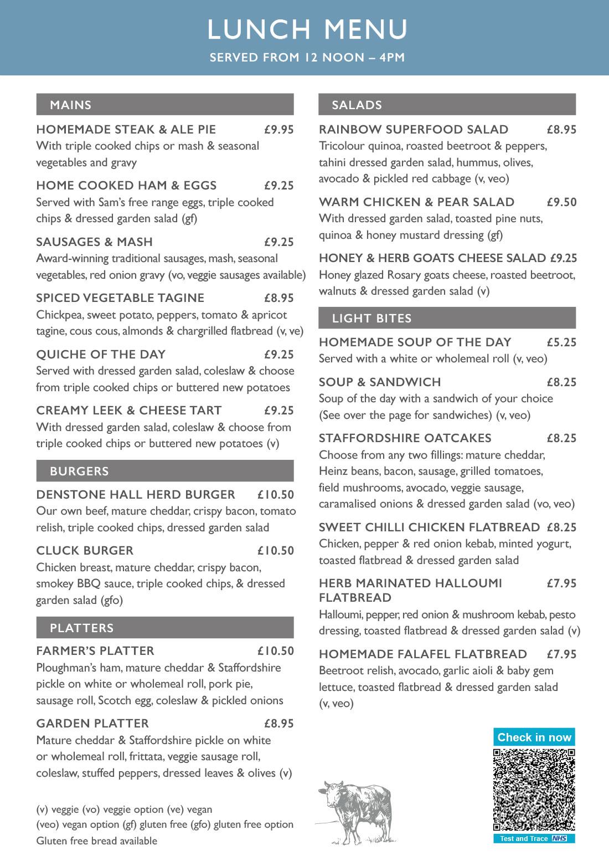 Denstone Hall Farm Shop & Café - Lunch