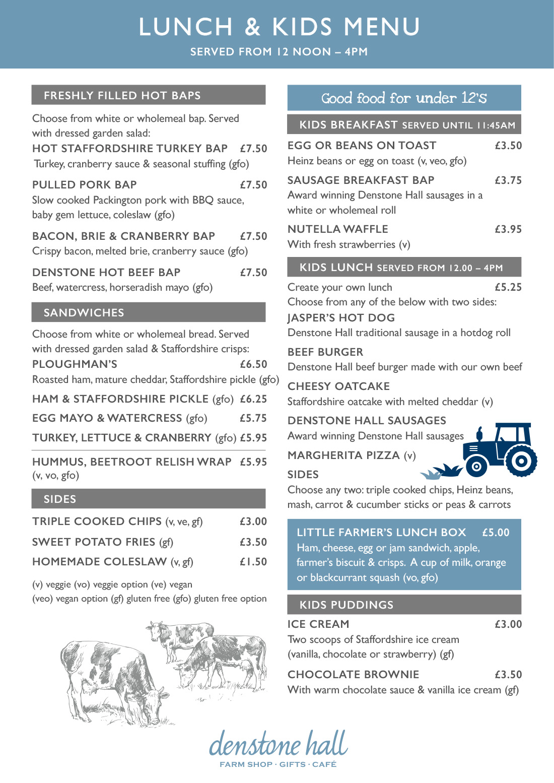 Denstone Hall Farm Shop & Café - Lunch & Kids